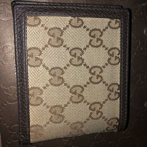 Mend GG canvas brown wallet